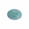 Cabouchon Glass 18/13mm Oval Turquoise matrix